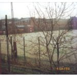 disused playing fields. Children's Wood and North Kelvin Meadow