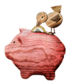 Childrens Wood Piggy Pank